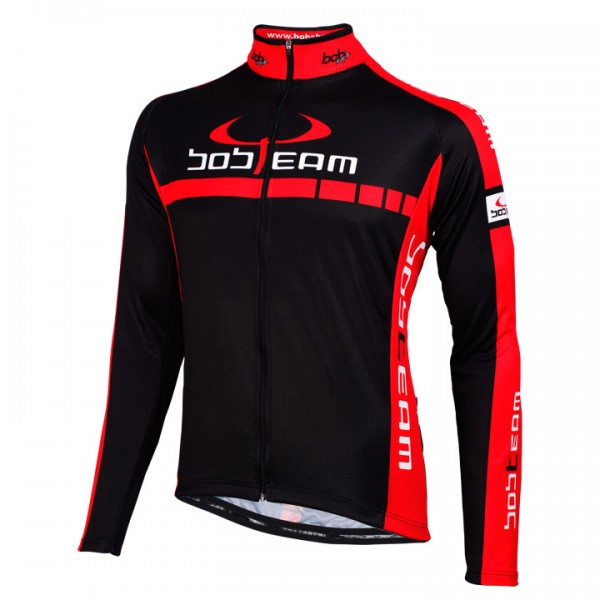 BOBTEAM COLORS Langarmtrikot schwarz - rot