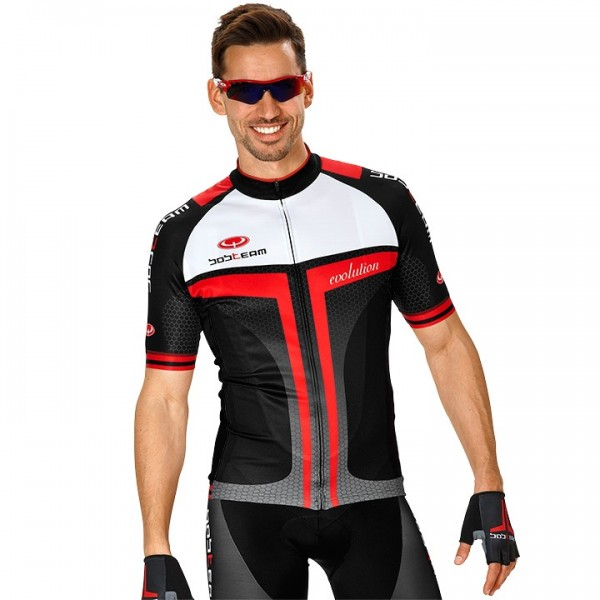 BOBTEAM EVOLUTION 2.0 Kurzarmtrikot schwarz - rot